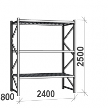 Maxi starter Bay 2500x2400x800 300kg/level,3 levels with steel decks