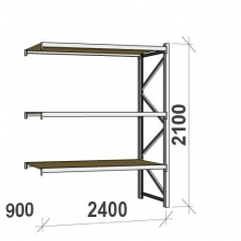 Extension bay 2100x2400x900 300kg/level,3 levels with chipboard