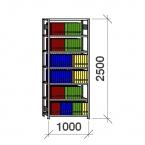 Arhiiviriiul põhiosa 2500x1000x300 200kg/riiuliplaat,7 plaati