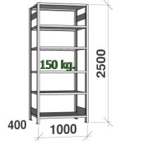Laoriiul põhiosa 2500x1000x400 150kg/riiuliplaat,6 plaati
