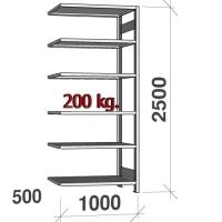 Laoriiul lisaosa 2500x1000x500 200kg/riiuliplaat,6 plaati