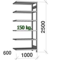 Laoriiul lisaosa 2500x1000x600 150kg/riiuliplaat,6 plaati