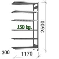 Laoriiul lisaosa 2500x1170x300 200kg/riiuliplaat,6 plaati