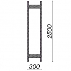 Side frame 2500x300
