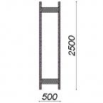 Side frame 2500x500