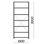 Starter bay 3000x1000x500 150kg/shelf,7 shelves