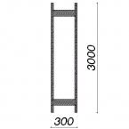 Side frame 3000x300