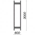 Side frame 3000x600