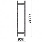 Side frame 3000x800