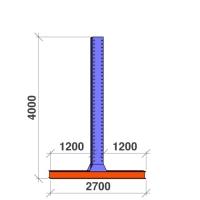 T-post 4000x2x1200