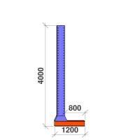 L-post 4000x800