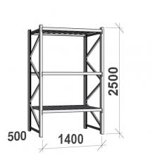 Maxi starter Bay 2500x1400x500 600kg/level,3 levels with steel decks