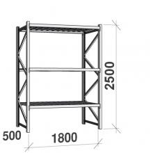 Maxi starter Bay 2500x1800x500 480kg/level,3 levels with steel decks