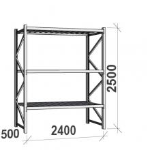 Maxi starter Bay 2500x2400x500 300kg/level,3 levels with steel decks