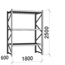 Maxi starter Bay 2500x1800x600 480kg/level,3 levels with steel decks