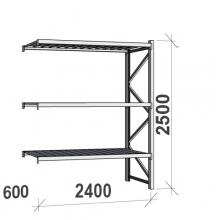 Laoriiul jätkuosa 2500x2400x600 300kg/tasapind,3 tsinkplekk tasapinda