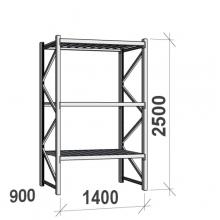 Maxi starter Bay 2500x1400x900 600kg/level,3 levels with steel decks