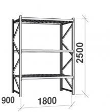 Maxi starter Bay 2500x1800x900 480kg/level,3 levels with steel decks