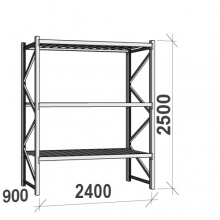Maxi starter bay 2500x2400x900 300kg/level,3 levels with steel decks