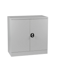 Half-Height Cupboard,2 shelves 900x900x450 grey