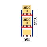 Kaubaaluse riiul põhiosa 2550x950 3500kg/alus,3 alust