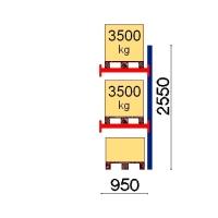 Add On bay 2550x950 3500kg/pallet,3 EUR pallets