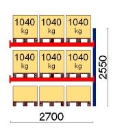 Kaubaaluse riiul lisaosa 2550x2700 1041kg/alus,9 alust