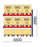Kaubaaluse riiul lisaosa 2550x3300 860kg/alus,9 alust