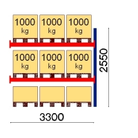 Add On bay 2550x3300 1000kg/pallet,9 FIN pallets