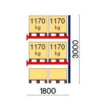 Kaubaaluse riiul lisaosa 3000x1800 1170kg/alus,6 alust