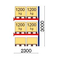 Kaubaaluse riiul lisaosa 3000x2300 1200kg/alus,6 alust