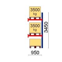 Kaubaaluse riiuli lisaosa 3450x950 3500kg/alus,3 alust