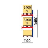 Kaubaaluse riiul lisaosa 3450x1150 3400kg/alus,3 alust