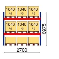 Kaubaaluse riiul põhiosa 3975x2700 1041kg/alus,9 alust