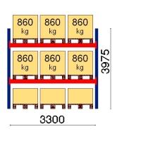 Kaubaaluse riiul põhiosa 3975x3300 860kg/alus,9 alust