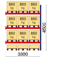 Kaubaaluse riiul lisaosa 4500x3300 860kg/alus,12 alust