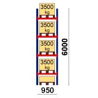 Starter bay 6000x950 3500kg/pallet,5 EUR pallets