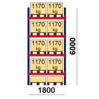Starter bay 6000x1800 1170kg/pallet,10 EUR pallets