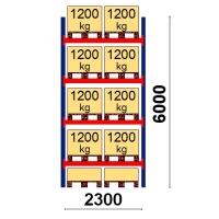 Starter bay 6000x2300 1200kg/pallet,10 FIN pallets