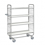 Flexibel shelf trolley 4 shelves 1195x470x1590mm, 250kg