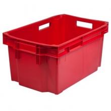 Plastic storage box 600x400x300mm, red