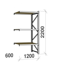 Extension bay 2200x1200x600 600kg/level,3 levels with chipboard