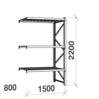 Extension bay 2200x1500x800 600kg/level,3 levels with steel decks