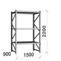 Starter bay 2200x1500x900 600kg/level,3 levels with steel decks