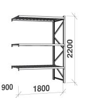 Metallriiul lisaosa 2200x1800x900 480kg/tasapind,3 tsinkplekk tasapinda