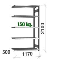 Laoriiul lisaosa 2100x1170x500 150kg/riiuliplaat,5 plaati