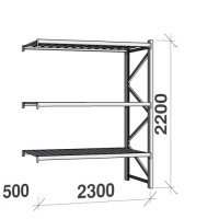 Extension bay 2200x2300x500 350kg/level,3 levels with steel decks