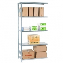 Extension bay 2100x1000x600 used, 5 shelves
