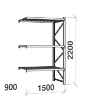 Extension bay 2200x1500x900 600kg/level,3 levels with steel decks