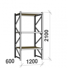 Starter bay 2100x1200x600 600kg/level,3 levels with chipboard